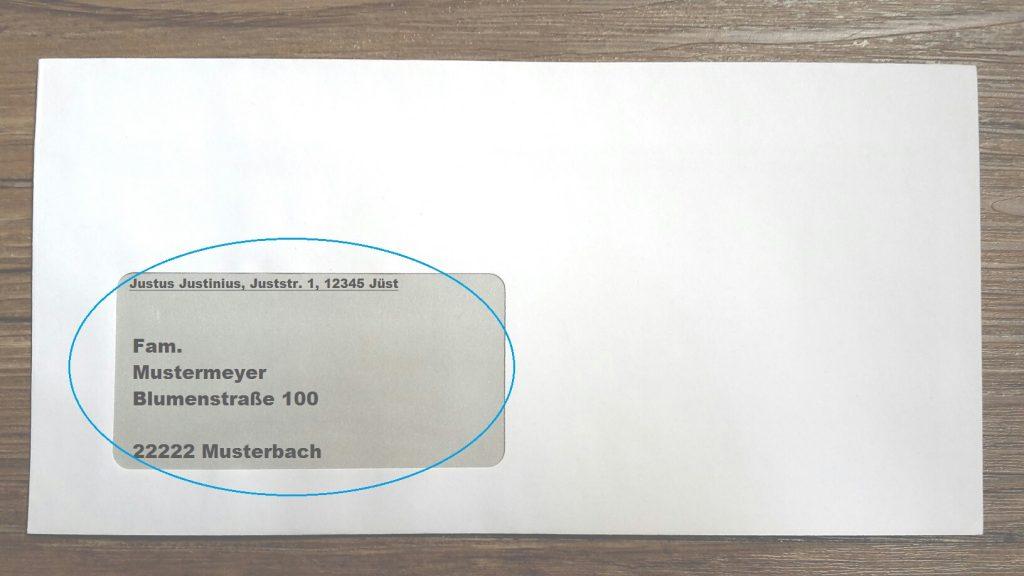Brief mit Sichtfenster richtig beschriften in Deutschland auf 123familie.de
