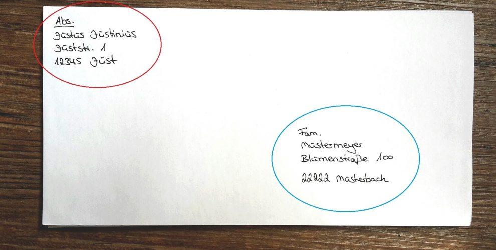 Brief richtig beschriften in Deutschland auf 123familie.de