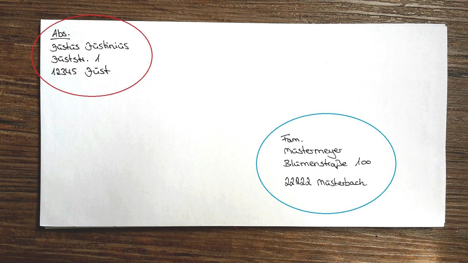 briefe und pakete richtig beschriften f r deutschland. Black Bedroom Furniture Sets. Home Design Ideas