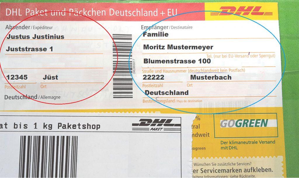 Paket richtig beschriften in Deutschland auf 123familie.de